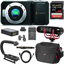 Blackmagic Pocket Cinema Mirrorless Camera, Rode Video Mic G