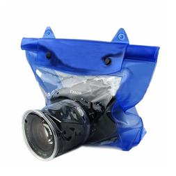 Blue Waterproof DSLR/SLR Camera Pouch Dry Bag Underwater Can