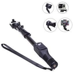 Bluetooth Extendable Selfie Stick Monopod For Gopro DSLR Cam