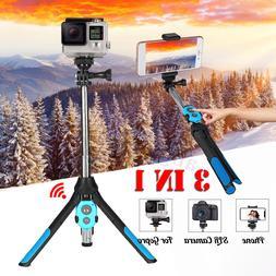 bluetooth Remote Control Extendable Selfie Stick Monopod Tri