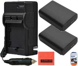 Pack of 2 BP1310 Batteries & Charger Kit for Samsung NX10 NX