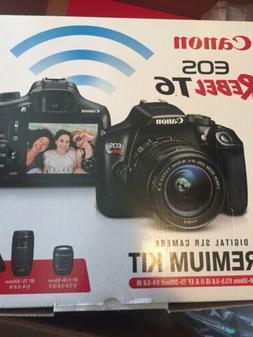 BRAND NEW Canon Rebel T6 SLR Camera Premium Kit w/ 2Lens 18-
