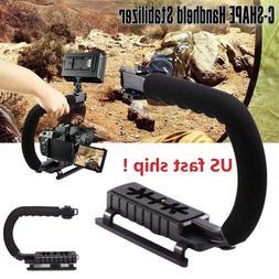 C shape Bracket Handle Grip Stabilizer fr DSLR SLR Camera Ca