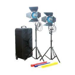 Came-TV Fresnel Tungsten Video Spot Film Lights, 2x 650W #J6