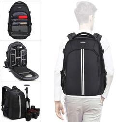 Abonnyc Camera Backpack Fit 2 Pro-Sized DSLR/SLR Bag, 3-6 Le