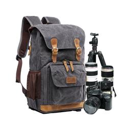 Camera Backpack SLR DSLR Canvas Large Waterproof Anti-shock