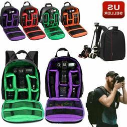 Camera Bag Backpack for Canon EOS Sony Nikon DSLR Digital Wa