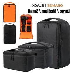 Camera Bag Padded Insert Carry Case Partition For DSLR SLR C