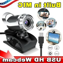 HD 12 Megapixels USB 6 LED Webcam Camera with MIC Clip-on fo