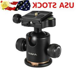 Andoer Camera Tripod Ball Head with Quick Release Plate 1/4