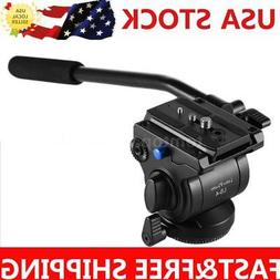 Camera Video Tripod Monopod Fluid Drag Tilt Ball Head + Quic