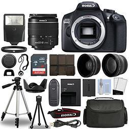 Canon 1300D/Rebel T6 DSLR Camera + 18-55mm 3 Lens Kit + 16GB