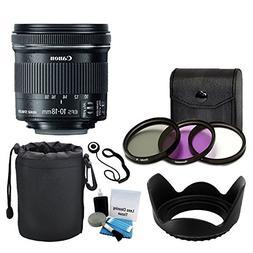 Canon EF-S 10-18mm f/4.5-5.6 IS STM Lens for DSLR Cameras +