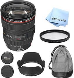 Canon EF 24-105mm f/4L IS USM Premium Lens Bundle - Internat
