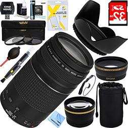 Canon EF 75-300mm F4-5.6 III Lens + 16GB Wide-Angle & Teleph