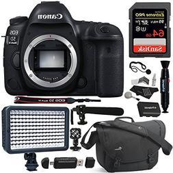 Canon EOS 5D Mark IV DSLR Camera Body, 64GB SD, Lowepro Came