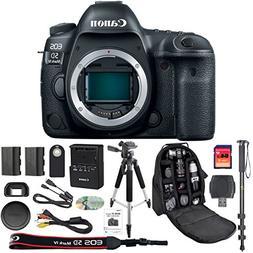 Canon EOS 5D Mark IV DSLR Camera Body + 64GB SDXC Card + Pro