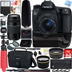 Canon EOS 70D DSLR Camera + 18-55mm & 75-300mm Dual Lens Tas