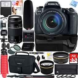 Canon EOS 77D 24.2 MP CMOS  DSLR Camera with EF-S 18-135mm 7