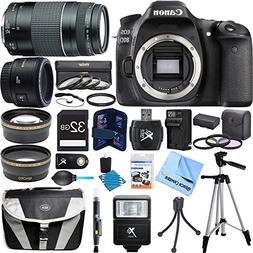 Canon EOS 80D CMOS Digital SLR Camera Super Bundle includes