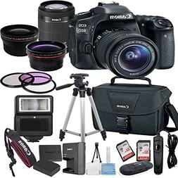 Canon EOS 80D Digital SLR Camera with EF-S 18-55mm Bundle in
