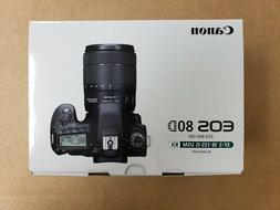 Canon EOS 80D Digital SLR Camera with 18-135mm USM Lens +San