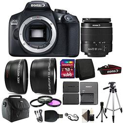 Canon EOS Rebel 1300D/T6 D-SLR Camera with 64GB Top Accessor