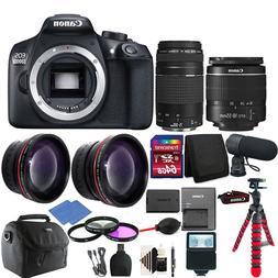 Canon EOS Rebel 1300D/T6 D-SLR Camera 4 Lens Complete Access