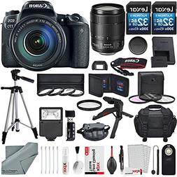 Canon EOS Rebel 77D DSLR Camera with Canon EF-S 18-135mm f/3