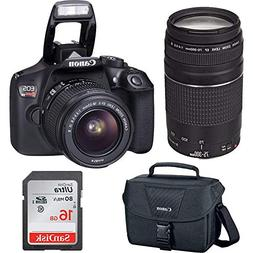 Canon EOS Rebel T6 Digital SLR Premium Kit, EF-S 18-55mm and
