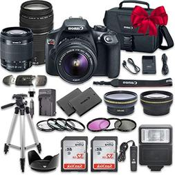 canon eos rebel dslr camera bundle ef s 18 55mm f 35 56 lens