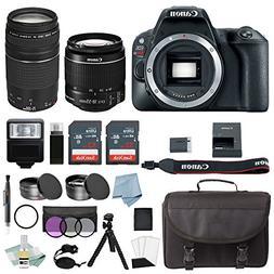Canon EOS Rebel SL2 Bundle With EF-S 18-55mm IS STM & EF 75-