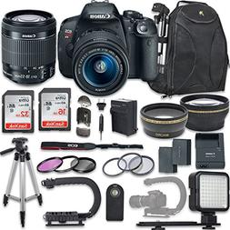 Canon EOS Rebel T5i DSLR Camera with Canon EF-S 18-55mm f/3.