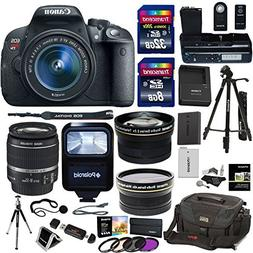 Canon EOS Rebel T5i Digital SLR Camera Body Bundle with EF-S