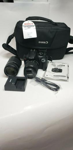 Canon EOS Rebel T6 DSLR Camera w/ EF-S 18-55mm & EF-S 55-250