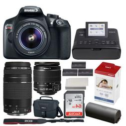 Canon EOS Rebel T6 Digital SLR Camera + EF-S 18-55mm & EF 75