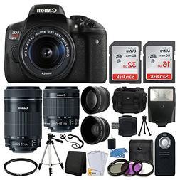 Canon EOS Rebel T6i DSLR Camera + EF-S 18-55mm IS STM Lens &