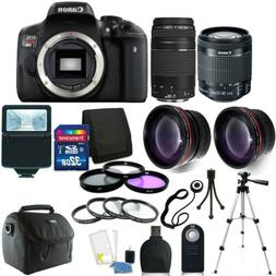 Canon EOS Rebel T6i DSLR Camera +18-55mm STM  75-300mm Lens