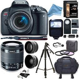 Canon EOS Rebel T7i Camera, EF-S 18-55 IS STM Lens Kit, Lexa