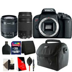 Canon EOS Rebel T7i 24.2MP DSLR Camera with 18-55mm + 75-300