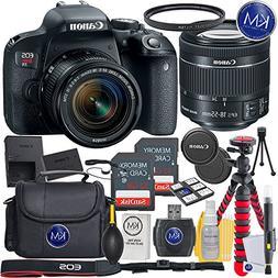 Canon EOS Rebel T7i EF-S 18-55 IS STM Kit + 2X32GB Card + Ba