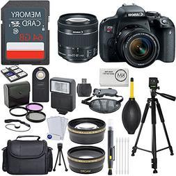 Canon EOS Rebel T7i EF-S 18-55 IS STM Kit + 2X32GB Card + Ad