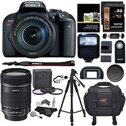 Canon EOS Rebel T7i EF-S 18-135 is STM Kit, 64GB Memory Card
