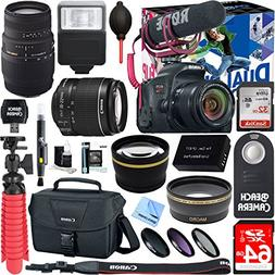 Canon EOS Rebel T7i Digital SLR Camera Video Creator Kit + E