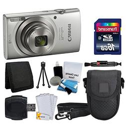 Canon PowerShot ELPH 180 Digital Camera  + Transcend 16GB Me