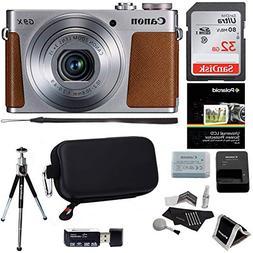 Canon PowerShot G9 X Mark II Digital Camera 20.1 MP Sensor &