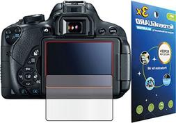 3x Canon Rebel T5i  Kiss X7i DSLR camera Premium Clear LCD S