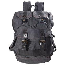 "DRF Canvas DSLR Camera Case Backpack Fit 16"" Laptop Hiking T"