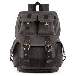 Kattee Fashion Canvas DSLR SLR Camera Case Backpack Rucksack
