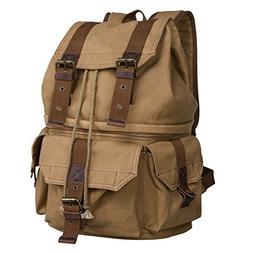 S-ZONE Canvas DSLR SLR Camera Shoulder Bag Backpack Rucksack